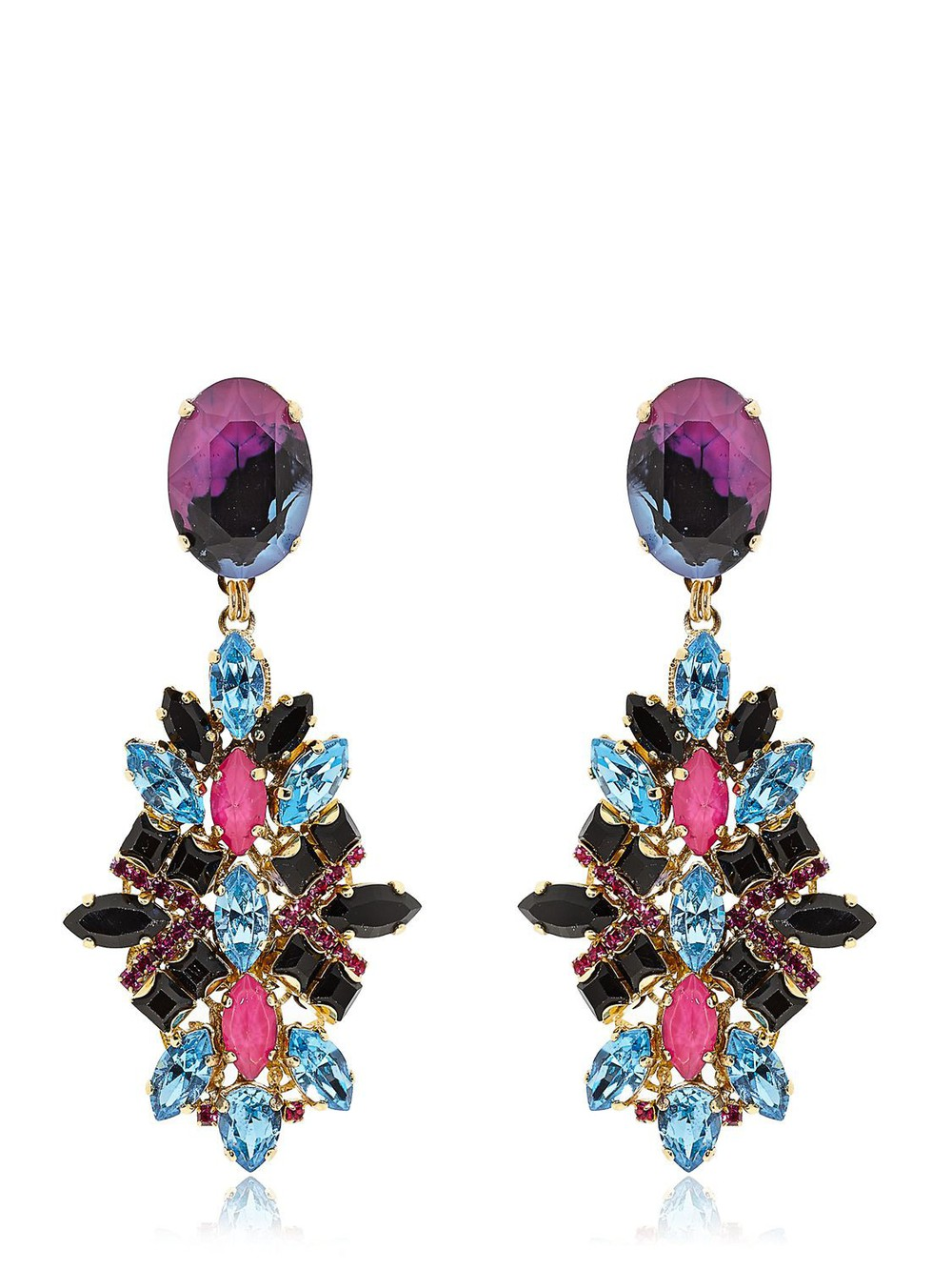 0f71835e76b Mercedes Salazar Candongas Petit Earrings in fuchsia - Wheretoget
