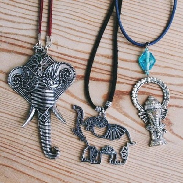 jewels necklace hippie hipster boho indie festival elephant elephant