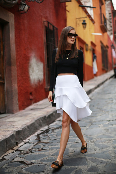 style scrapbook skirt top sunglasses bag shoes