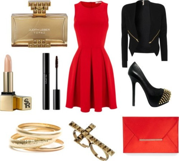 dress jacket jewels shoes bag