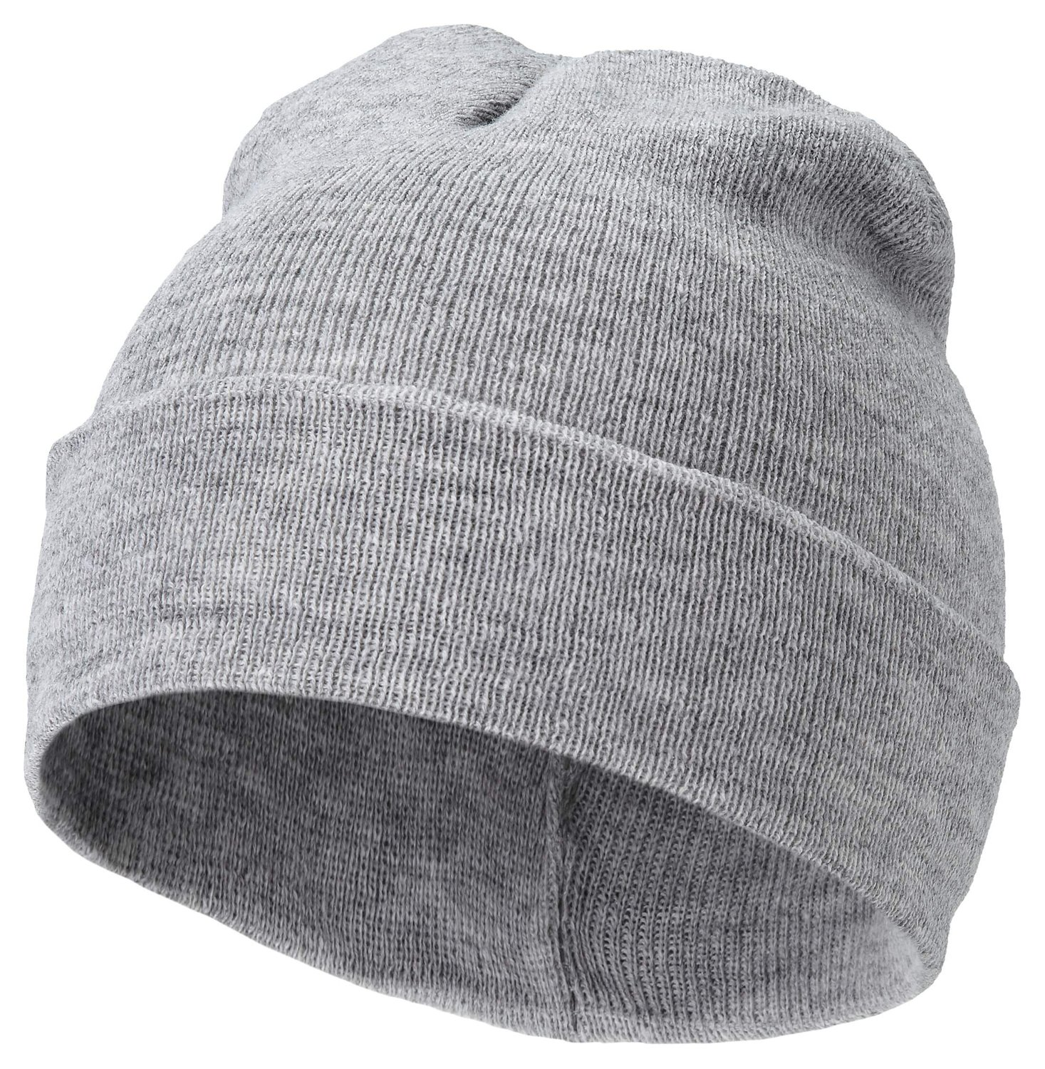 U.S. Knitted Beanie Beany Cap Hat - 4 Colours Black Red Navy Grey (ASH GREY): Amazon.co.uk: Clothing