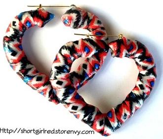 jewels bamboo earrings aztec print tribal print streetwear earrings unique