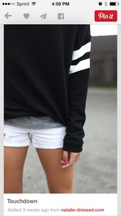 sweater,baggy,comfy,long sleeves,black,sweetshirt,black sweater,sleeve stripes,sporty sweater,casual,streetstyle,streetwear,black clothing,fall outfits,winter sweater,shirt