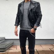 jacket,ribbed,leather,biker,maniere de voir,mdv,classic,poppers