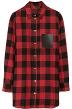Degriffe oversized plaid cotton shirt