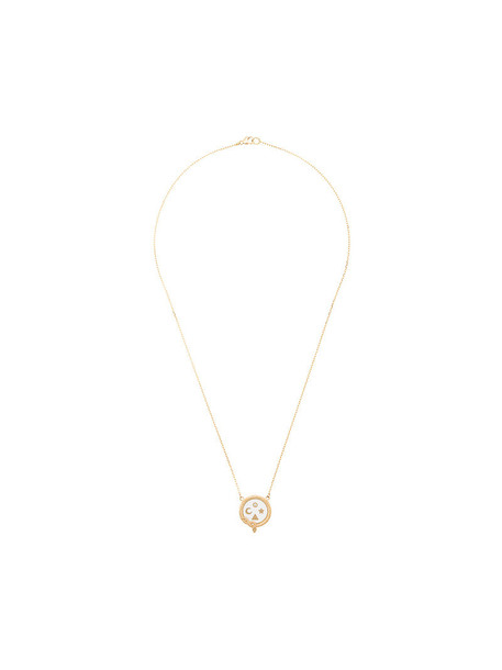 Foundrae women necklace gold grey metallic jewels