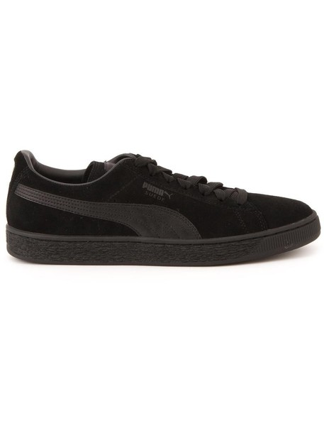 puma women classic 23 sneakers leather suede black shoes