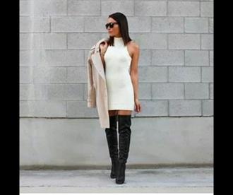 dress sweater dress knitwear sweater winterwears boots winter sweater