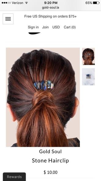 jewels hair clip stone hair clip hair accessory