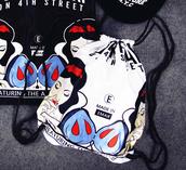 bag,backpack,drawstring,grunge,punk,badass,snow white,princess