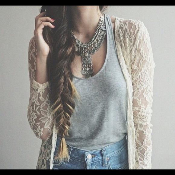 hairstyles fall outfits fall outfits girl jacket lace jacket hipster statement necklace