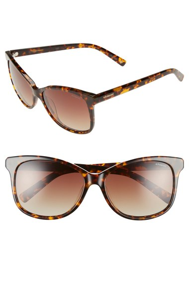 Polaroid Eyewear 57mm Polarized Cat Eye Sunglasses | Nordstrom