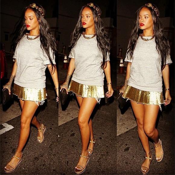 t-shirt shirt grey grey sweatshirt grey shirt dress skirt gold golden skirts grey shirt