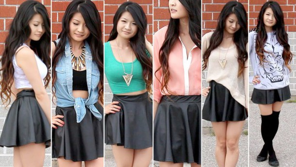 skirt leather cute summer outfits