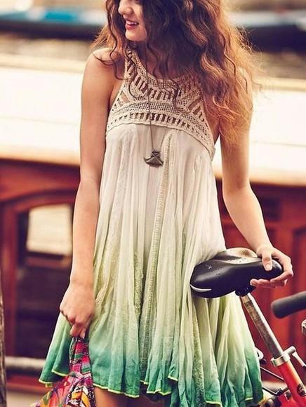 beige dress ombre dress
