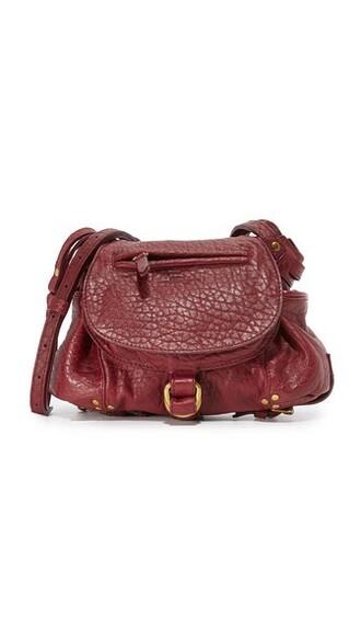 cross mini bag burgundy