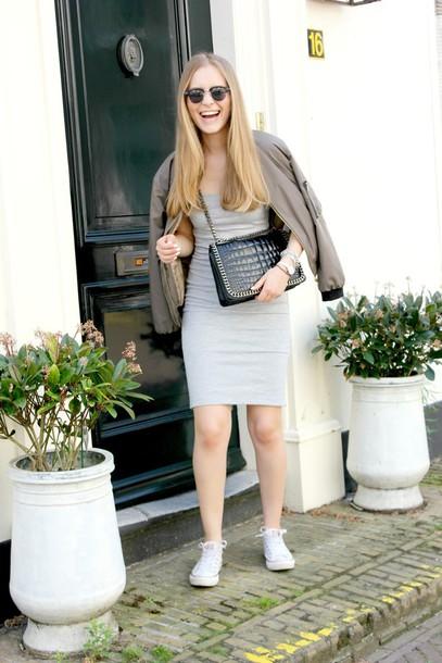 miss confidential blogger jacket dress shoes bag