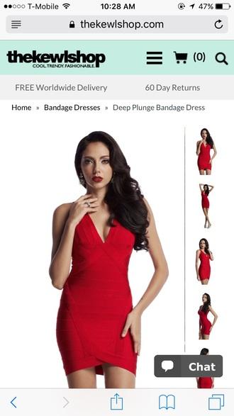 dress red dress bandage dress