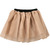 ROMWE | Pleated Multilayer Champagne Colored Skirt, The Latest Street Fashion