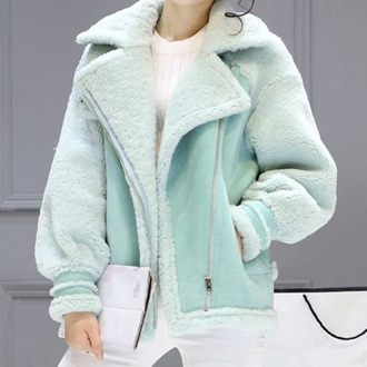 jacket mint warm fall outfits winter outfits fashion style boogzel