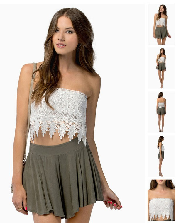 top short crop tops lace