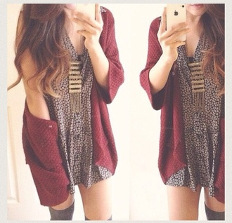 dress floral cute dress brandy melville knee high socks voltaire knit cardigan coat