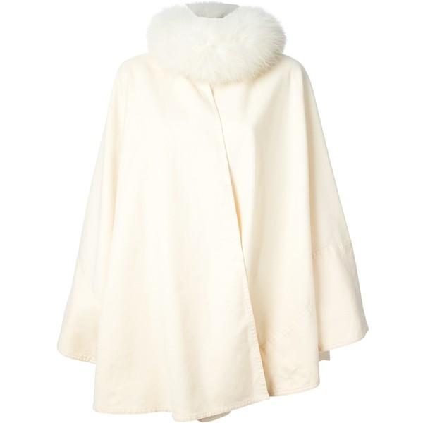 CHLOE VINTAGE 1980s fur trimmed cape - Chloé - Polyvore