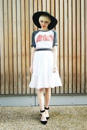 stella's wardrobe,blogger,midi skirt,cartoon,marvel,t-shirt,hat,top,jacket,skirt,shoes
