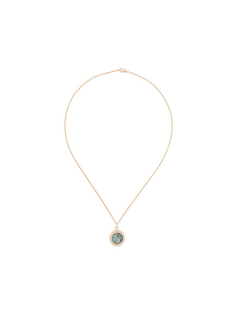 rose gold rose women birthstone necklace gold silver grey metallic jewels
