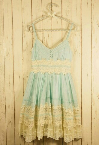 dress white lace lovely cute summer baby blue dress summer dress perfect