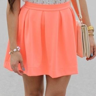 skirt orange skirt skater skirt