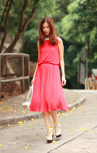 mellow mayoness pink dress dress