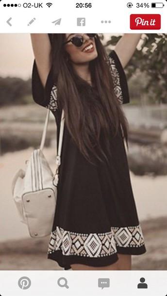 dress black dress summer dress festival boho dress summer outfits flowy dress