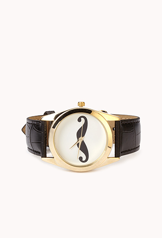 Quirky Mustache Watch | FOREVER21 - 1062738812