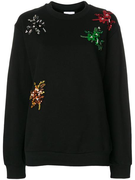 Gaelle Bonheur - sequin bug patch sweatshirt - women - Cotton - 2, Black, Cotton