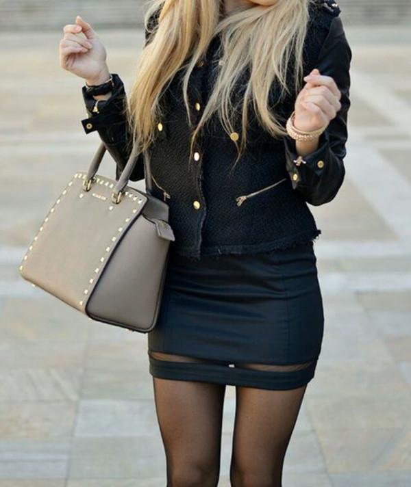 skirt coat bag
