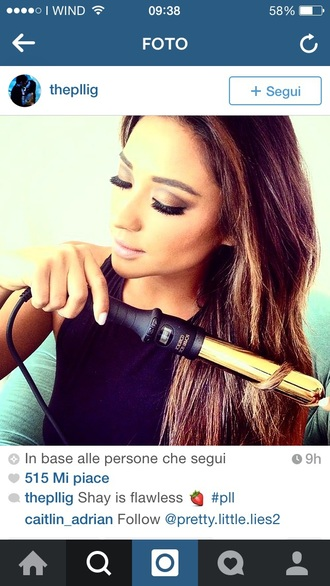 hair accessory shay mitchell brunette