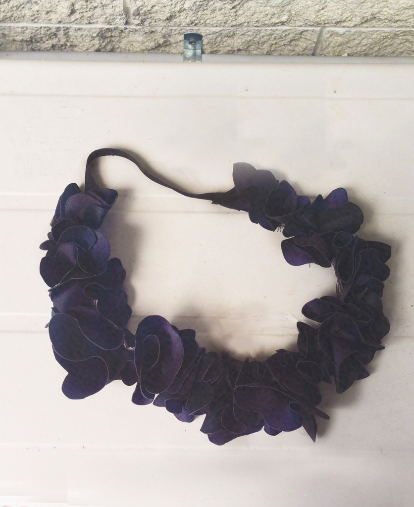 Pleather flower power headband