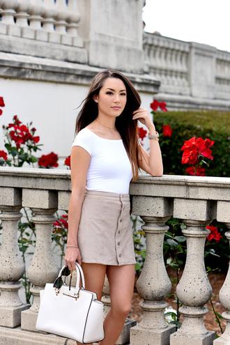 jessica r. hapa time - a california fashion blog by jessica blogger top skirt shoes bag