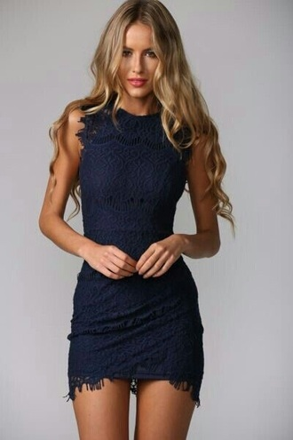 dress navy dress lace dress ripped dress pretty dress