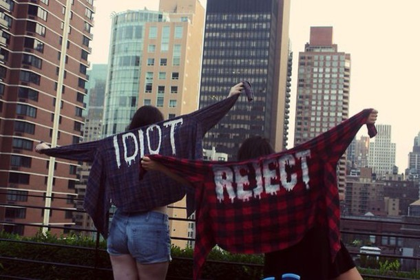 plaid red shirt top idiot reject flannel shirt blouse michael clifford plaid flannel flannel shirt red flannel jacket black flannel best friend shirts jacket grunge rock red blue