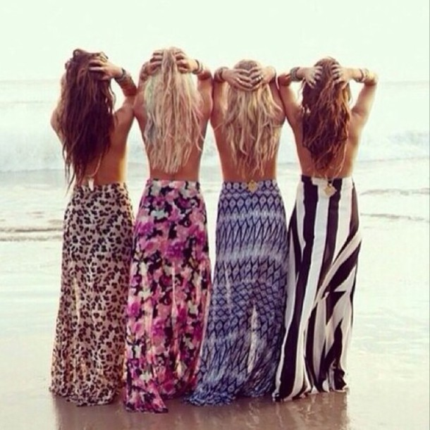 Populaire Skirt: maxi skirt, maxi, summer skirt, coachella, black and white  FX12