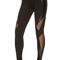 Black sheer mesh detail skinny leggings