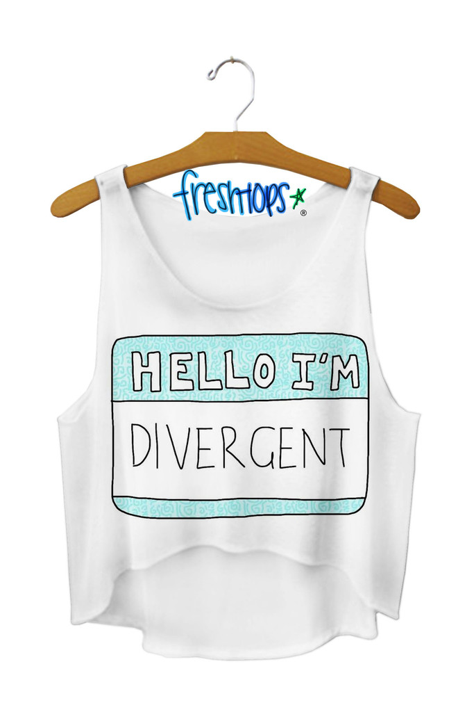 Hello divergent crop top