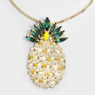 pineapple necklace pendant jewels