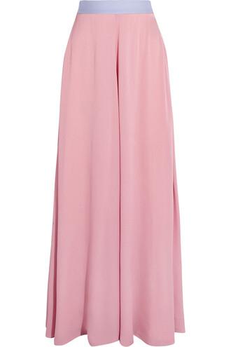 skirt maxi skirt maxi silk pink