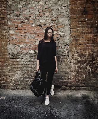 bag backpack rucksack black backpack black quilted bag streetstyle streetwear women fashion vibe