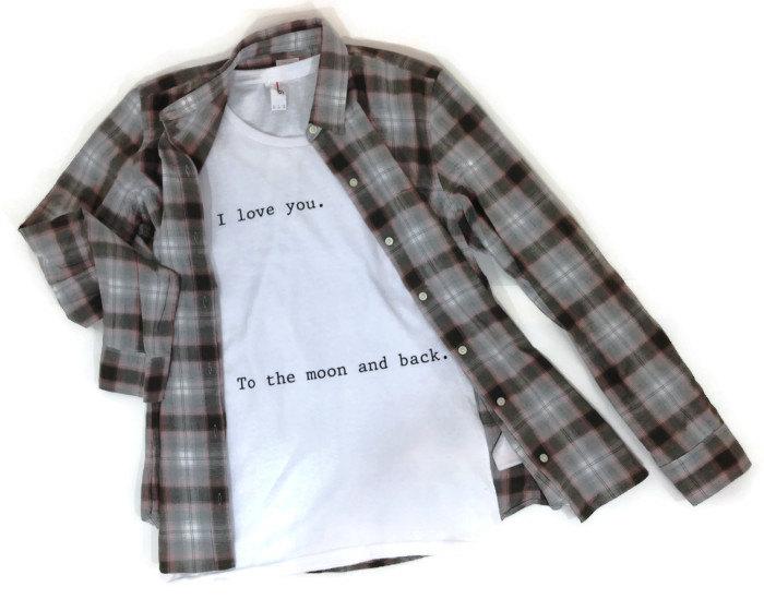 I love you to the moon and back shirt short sleeved tumblr tshirt moon shirt cute i love you shirt