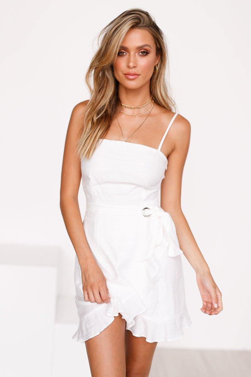 Fallin In Love Dress (White)