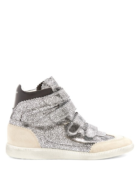 Isabel Marant leather silver shoes